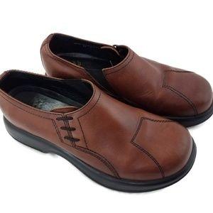 Dansko Brown Leather Loafer Clog Professional Shoe